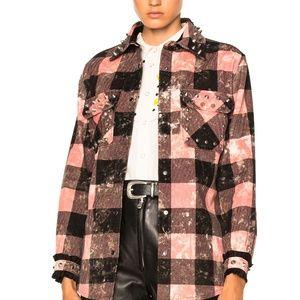 Coach Tops - Coach Pink Plaid Studded Shirt